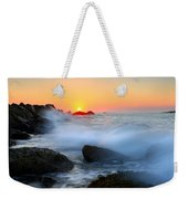 The Fury Of The Sea Weekender Tote Bag