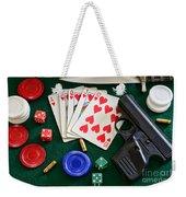 The Gambler Weekender Tote Bag