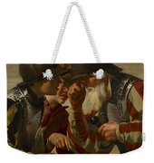 The Gamblers Weekender Tote Bag by Hendrick Ter Brugghen