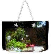 The Garden Bench Weekender Tote Bag