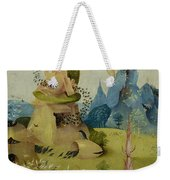 The Garden Of Earthly Delights, Detail Of Left Panel Showing Paradise Weekender Tote Bag