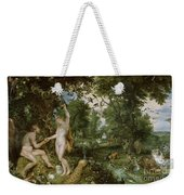 The Garden Of Eden With The Fall Of Man Weekender Tote Bag