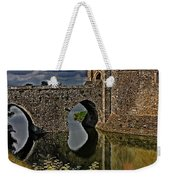 The Gatehouse And Moat At Leeds Castle Weekender Tote Bag