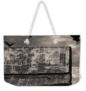The Gathering - Vultures Above An Old Barn Weekender Tote Bag