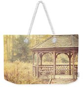 The Gazebo In The Woods Weekender Tote Bag by Lisa Russo