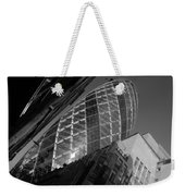 The Gherkin Black And White Weekender Tote Bag