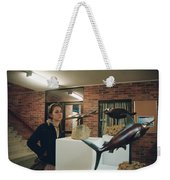 The Girl In The Exhibition Weekender Tote Bag