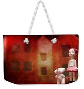 The Girl With Teddy Bear Weekender Tote Bag