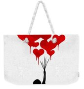 The Girl With The Red Balloons Weekender Tote Bag