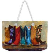 The Girls Are Back In Town Weekender Tote Bag by Frances Marino