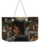 The Glorification Of Art And Diligence And The Punishment Of Gluttony And Earthly Pleasures Weekender Tote Bag