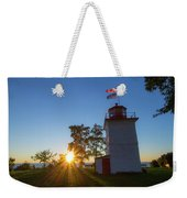 The Goderich Lighthouse At Sunset Weekender Tote Bag