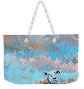 The Golden Flock - Colorful Sheep Art Weekender Tote Bag
