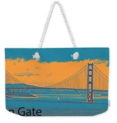 The Golden Gate Bridge In Sfo California Travel Poster 2 Weekender Tote Bag