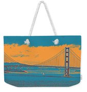 The Golden Gate Bridge In Sfo California Travel Poster Weekender Tote Bag
