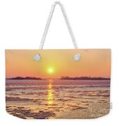 The Golden Hour And Ice Drift Weekender Tote Bag