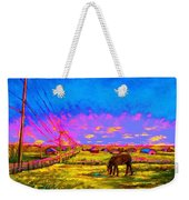 The Golden Meadow Weekender Tote Bag