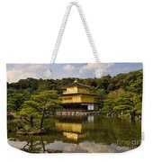 The Golden Pagoda In Kyoto Japan Weekender Tote Bag
