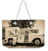 The Good Humor Man In Sepia Weekender Tote Bag
