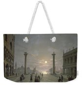 The Grand Canal From Piazza San Marco Weekender Tote Bag