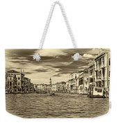 The Grand Canal - Paint Sepia Weekender Tote Bag