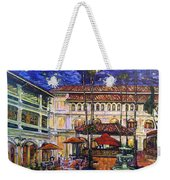 The Grand Dame's Courtyard Cafe  Weekender Tote Bag