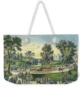 The Grand Drive, Central Park, New York, 1869 Weekender Tote Bag