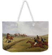 The Grand Leicestershire Steeplechase, March 12th, 1829 Weekender Tote Bag