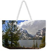 The Grand Tetons And The Lake Weekender Tote Bag