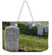 The Grave Of Martha B. Ellingsen In Arlington's Nurses Section Weekender Tote Bag