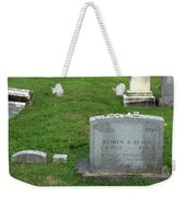 The Grave Of Mathew Brady -- Renowned Photographer Of The American Civil War Weekender Tote Bag