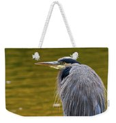 The Great Blue Heron Perched On A Tree Branch Weekender Tote Bag