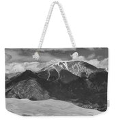 The Great Colorado Sand Dunes  125 Black And White Weekender Tote Bag