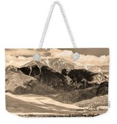 The Great Colorado Sand Dunes In Sepia Weekender Tote Bag
