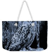 Majestic Great Horned Owl Bw Weekender Tote Bag