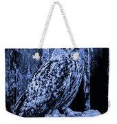 Majestic Great Horned Owl Blue Indigo Weekender Tote Bag