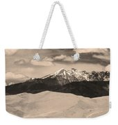 The Great Sand Dunes And Sangre De Cristo Mountains - Sepia Weekender Tote Bag