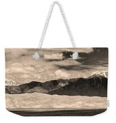 The Great Sand Dunes Panorama 2 Sepia Weekender Tote Bag