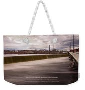 The Great Stone Dam Lawrence, Massachusetts Weekender Tote Bag