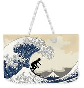 The Great Surfer Off Kanagawa Weekender Tote Bag
