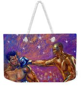 the Greatest  Muhammed Ali vs Jack Johnson Weekender Tote Bag