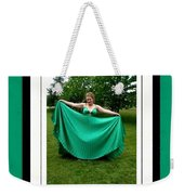 The Green Dress Weekender Tote Bag