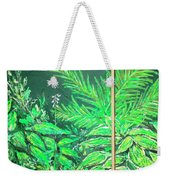 The Green Flower Garden Weekender Tote Bag by Darren Cannell