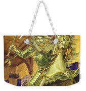 The Green Knight Weekender Tote Bag by Melissa A Benson