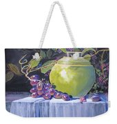 The Green Pot And Grapes Weekender Tote Bag