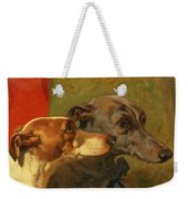 The Greyhounds Charley And Jimmy In An Interior Weekender Tote Bag