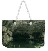 The Grotto Of The Loue Weekender Tote Bag by Gustave Courbet