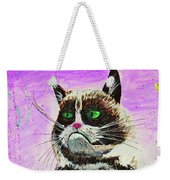 The Grumpy Cat From The Internets Weekender Tote Bag