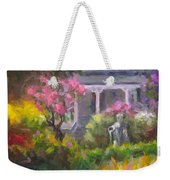 The Guardian - Plein Air Lilac Garden Weekender Tote Bag by Talya Johnson