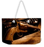 The Gun That Won The West - Sepia Weekender Tote Bag